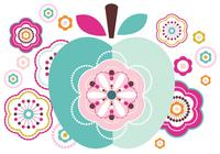 Abstract Apple and Flower Brush Pack