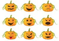 Pack de brosses de citrouille d'Halloween