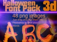 3D Halloween Lettertype PSD Pack
