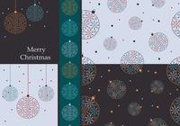 Kleurrijke Kerst Ornamenten Wallpaper and Brush Pack