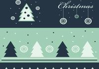 Green Christmas Photoshop Wallpaper and Brush Pack