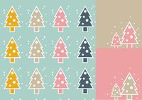 Simple Christmas Tree Wallpaper and Brush Pack