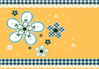 Gingham och Daisy Photoshop Wallpaper and Brush Pack