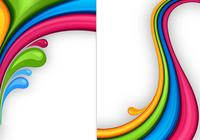 Kit de papier peint couleur Splash Photoshop Three