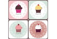 Doilies en Cupcakes Brush Pack