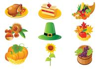 Thanksgiving Icons Brush Pack
