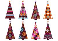 Patterned Christmas Trees Brush Pack
