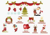 Merry Christmas Icons Brush Pack