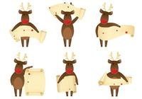 Winking Reindeer Banner Brush Pack