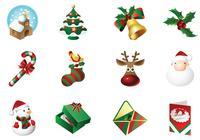 Icono de tiempo de Navidad Paquete de cepillo