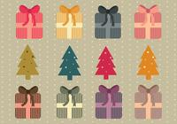 Simple Christmas Presents and Trees Brush Pack