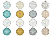 Snowflake Christmas Ornaments Brush and PNG Pack