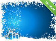 Blue Christmas Photoshop Background