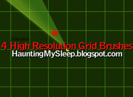 4 High Resolution Grid Brushes