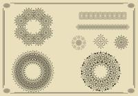 Wreaths, Borders, and Ornaments Brush Pack Two