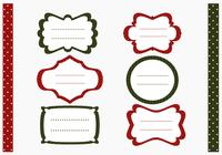 Polka Dotted Christmas Labels Borstel en Patroon Pack