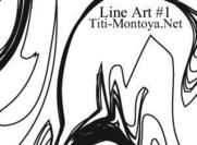 Line Art Abstracte Borstels