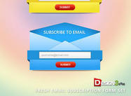 Fresh Email Abonnement Form Set