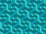 Geometric Escher Pattern