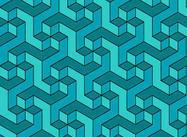 Geometric Escher Pattern