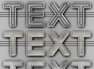Styles de texte en plastique