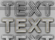 Estilos de texto em plástico