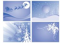 Kerstlandschappen Photoshop Wallpaper Pack