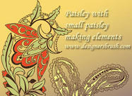Paisley with small paisley decorative motif
