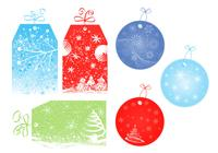 Christmas Tag and Label Brush Pack