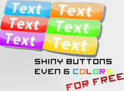 Free 6 Colorful Buttons PSDs