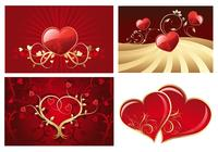 Paquet de papier peint de Valentine's Day Hearts Photoshop