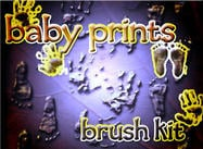 baby prints brush kit