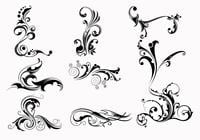 Nine-swirly-scroll-brushes