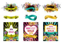 Färgglatt Swirly Photoshop Banner Pack