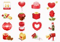 Valentine's Day Icons Brush Pack