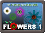 Floral Brush Pack - 18 Fractal Flower Brushes