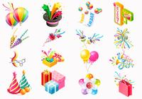Party Icon PSD och PNG Pack