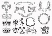Heraldry Brush Elements Pack