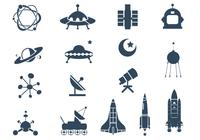 Pacote de escova de símbolo espacial