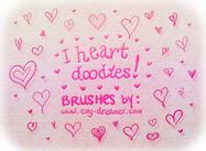 """I heart doodles!"" Brushes"