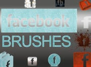 Pacote de Brush Logotipo Facebook