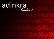 Symbol Pinsel Traditionelle Adinkra Bürsten 1