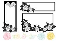 Zwart-wit Bloemen Tag Brush Pack