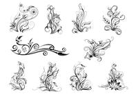 Ornamental Swirl Brush Pack