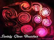 Swirly Glow Pinsel