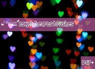 Bokeh Heart Brush Pack