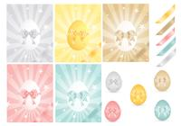 Easter Egg and Ribbons Photoshop Pack