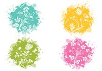 Splatter Flower Brush Pack