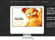 Ein kreatives Portfolio Web PSD
