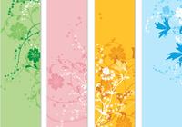 Four Floral Banner Photoshop Pack
